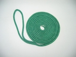 "1/2"" x 35' NYLON DOUBLE BRAID DOCK LINE - TEAL"