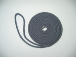 "3/8"" X 15' NYLON DOUBLE BRAID DOCK LINE - NAVY"