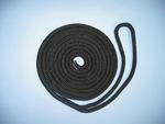 "1/2"" X 40' NYLON DOUBLE BRAID SPRING LINE - BLACK"