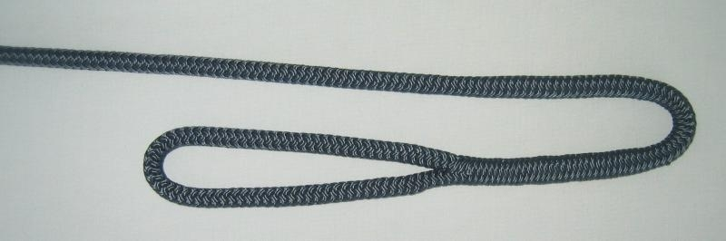 "3/8"" X 4' NYLON DOUBLE BRAID FENDER LINE - NAVY - Click Image to Close"
