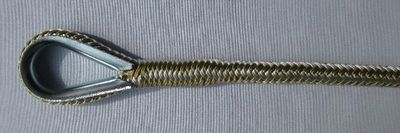 "1/2"" x 100' Gold & White Anchor Line"