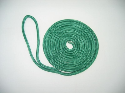 "1/2"" X 25' NYLON DOUBLE BRAID DOCK LINE - TEAL"