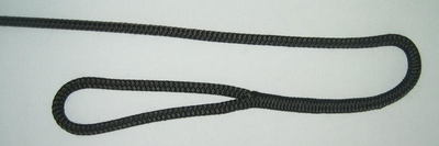 "3/8"" X 4' NYLON DOUBLE BRAID FENDER LINE - BLACK"