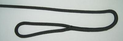 "1/2"" X 6' NYLON DOUBLE BRAID FENDER LINE - BLACK"