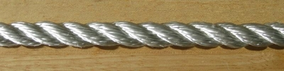 "1/2"" 3-Strand Twisted Nylon - Solid White"