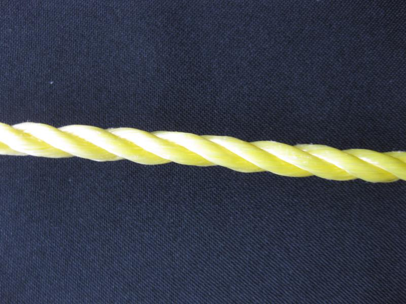 "3/16"" 3-Strand Twisted Polypropylene - Solid Yellow"