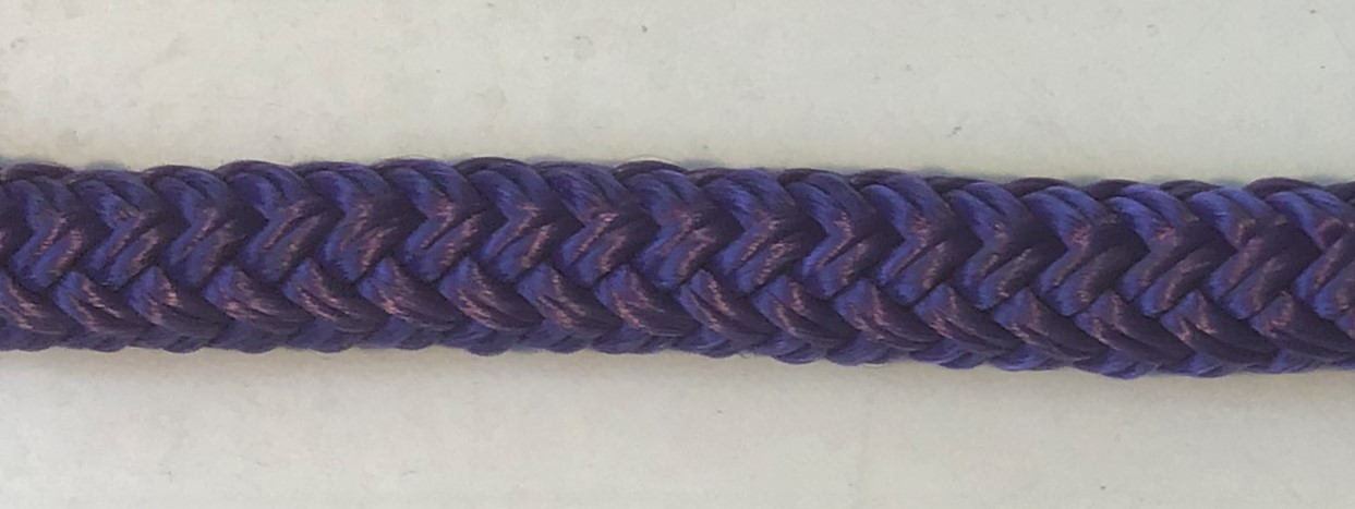 "3/8"" X 6' NYLON DOUBLE BRAID FENDER LINE - PURPLE"